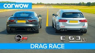 Jaguar F-Type SVR vs Mercedes-AMG E63 S - DRAG RACE, ROLLING RACE & BRAKE TEST