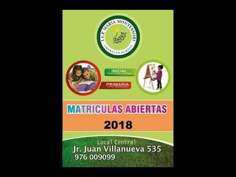 INICIAL - PRIMARIA - CAJAMARCA- I.E.P MARIA MONTESSORI AMERICAN SCHOOL.