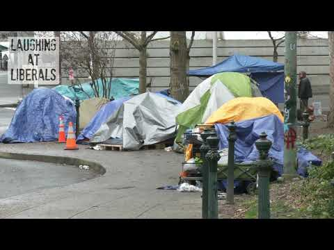Portland: City Of Homeless Tents And Boarded Up Buildings