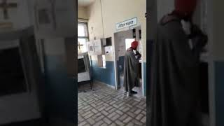 Snake charmer catches snakes  at primary health centre Chaukiman India punjab