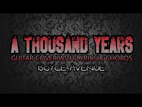 A Thousand Miles- Vanessa Carlton lyrics (cover by Boyce ...