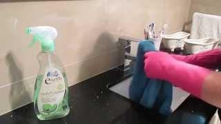 Asmr  **cleaning With Gloves/stove Top/glass Door/bathroom Vanity**