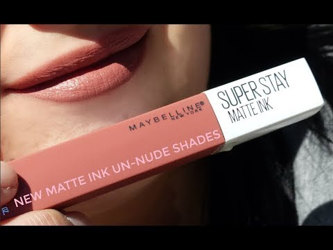 New Maybelline Superstay Matte Ink Un Nude Lipstick Youtube