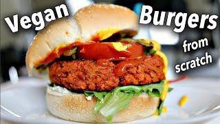 HOW TO MAKE VEGAN BURGERS FROM SCRATCH when you're a noob