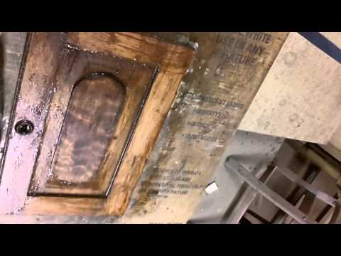 Skips Custom Refinishing, Refinishing an Old Antique Dry Sink.