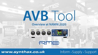 RME AVB Tool Overview at NAMM 2020: 4-Channel Mic Pre with MADI & AVB