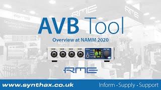 RME AVB Tool Overview at NAMM 2020: 4-Channel Mic Pre with MADI & AVB