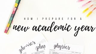 How I prepare for a new academic year - Back to school tips | studytee