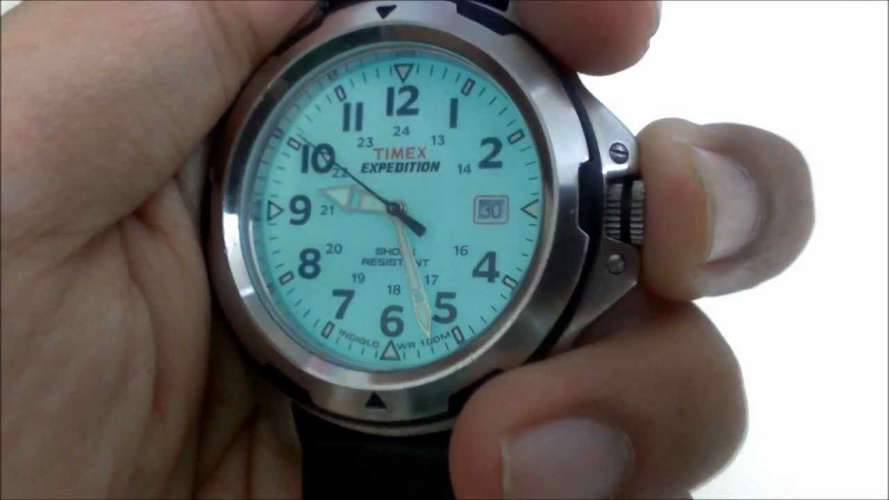 cf6e421ba Timex Expedition Rugged Field SHOCK Analog Watch #T49261 (HTC One S Video  Sample) - YouTube