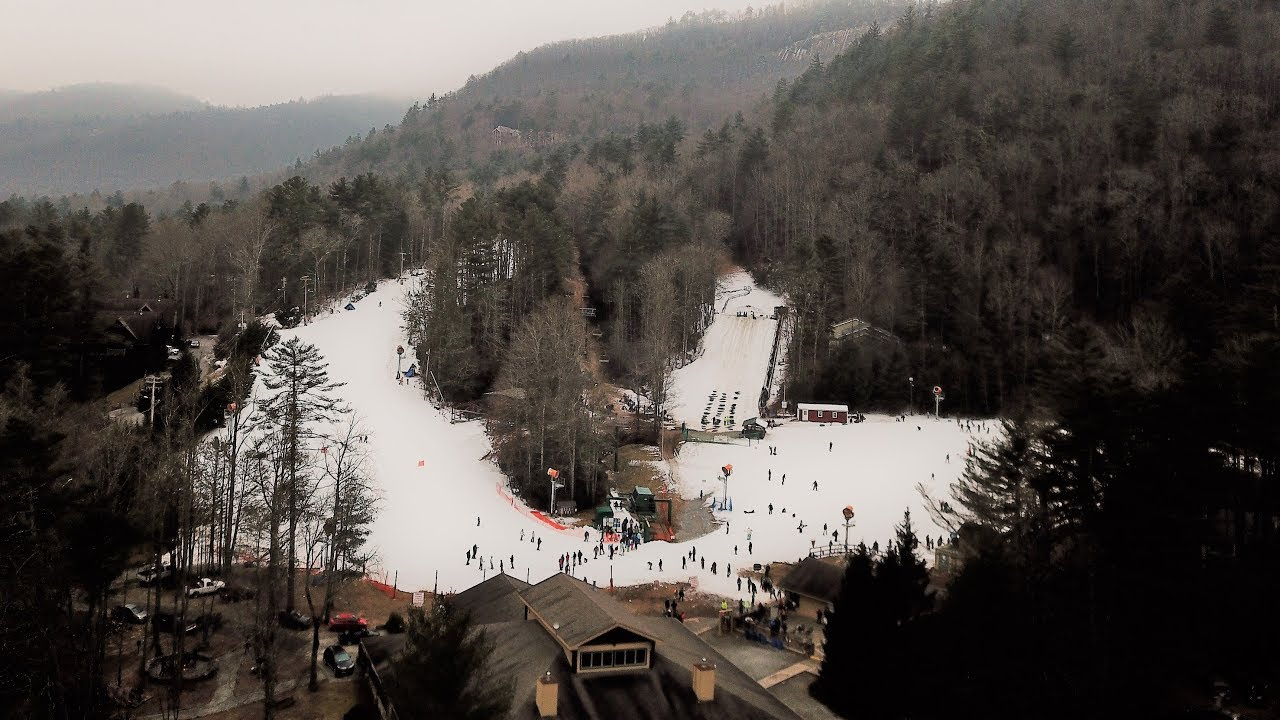 ski sapphire valley aerial view 2017 - youtube