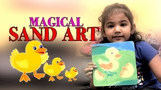 MAGICAL SAND ART PICTURE FOR KIDS- How To do Sand Painting