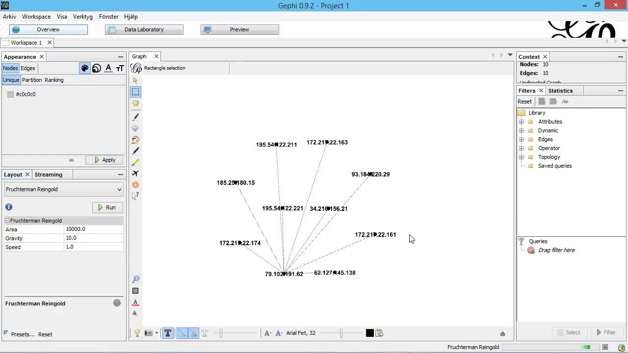 Streaming PCAP data to Gephi using the GraphStream plugin