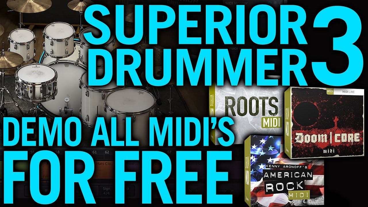 Superior Drummer 3 - Demo All Midi Packs FREE!