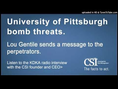 Lou Gentile - Radio Interview (KDKA) - University of Pittsburgh Bomb Threats