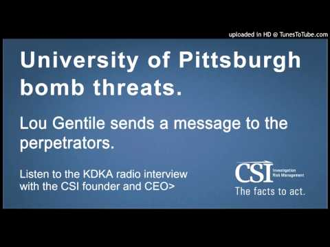 Lou Gentile - Radio Interview (KDKA) - University of Pittsburgh Bomb Threats
