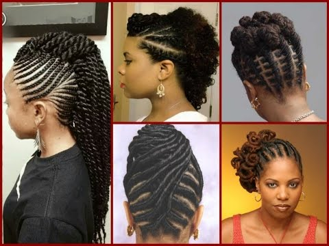 Top - 20 Flat Twist Hairstyles On Natural Hair - YouTube