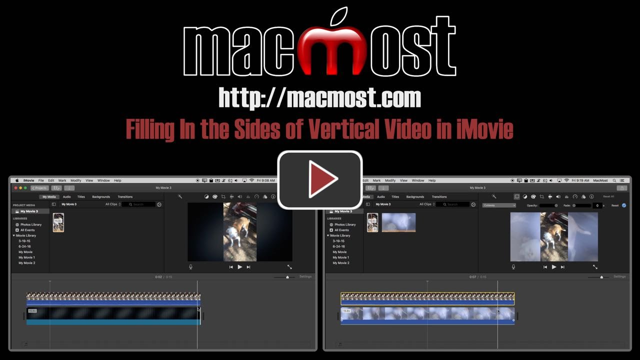 Filling In the Sides of Vertical Video in iMovie