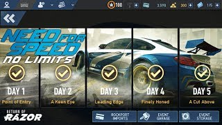 Return of RAZOR Day 5 A Cut Above Need For Speed No Limits Flashback Event Walkthrough Gameplay