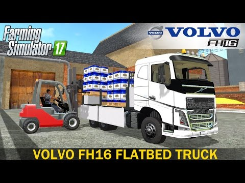 Farming Simulator 17 VOLVO FH16 FLATBED - Loading of Beer