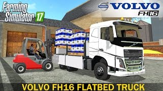 Farming Simulator 17 VOLVO FH16 FLATBED - Loading of Beer thumbnail