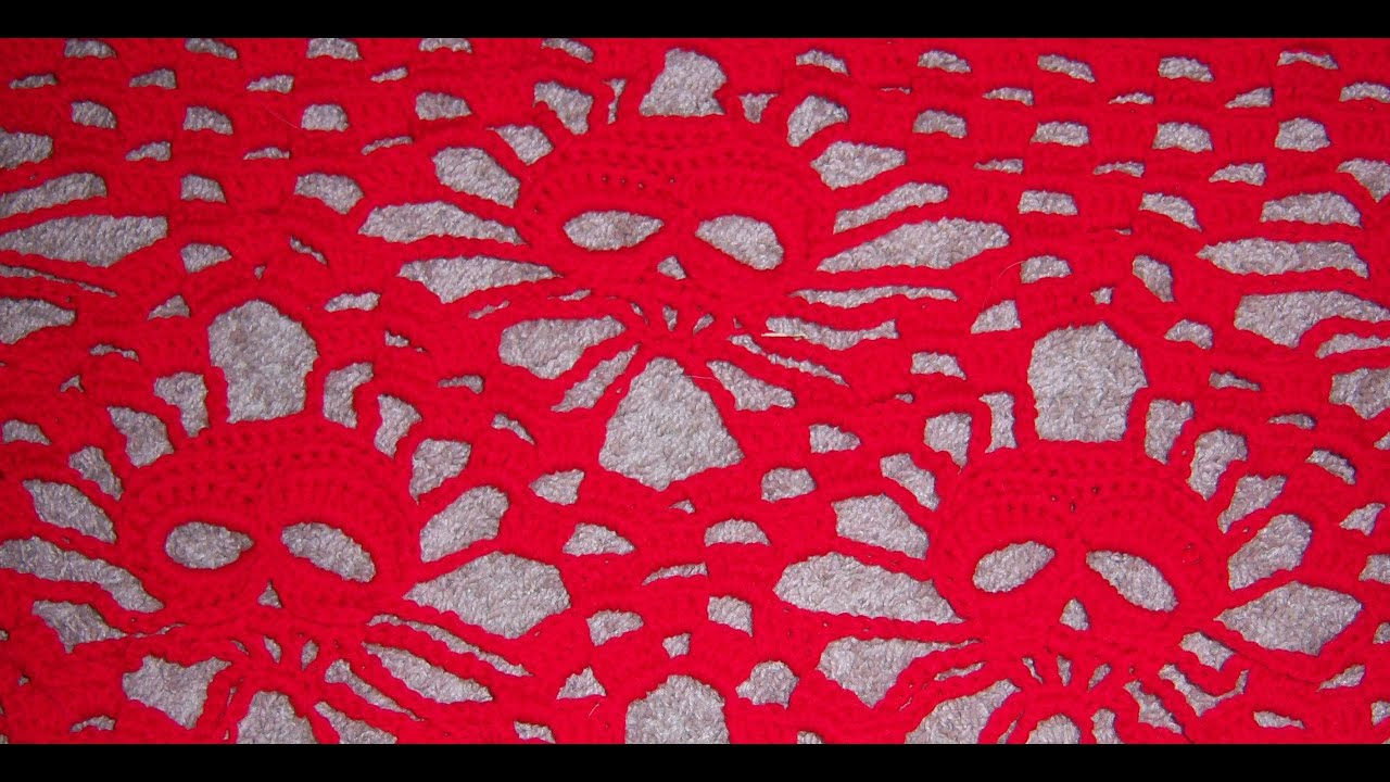 Crochet Skull Shawl tutorial 2 - YouTube