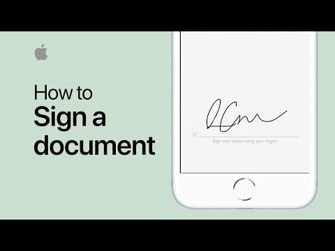 How to sign a document on your iPhone iPad, or iPod touch — Apple Support