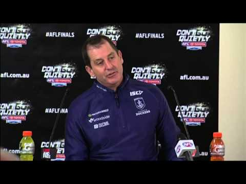 Sydney Swans Vs Fremantle   Ross Lyon press conference