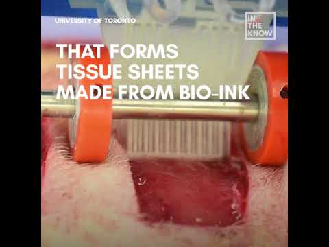 Scientists have developed a portable 3D skin printer that can heal and repair deep wounds