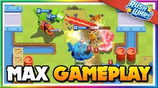 MAX LEVEL Rush Wars Gameplay! HQ Level 8 and Maxed Troops Attacks