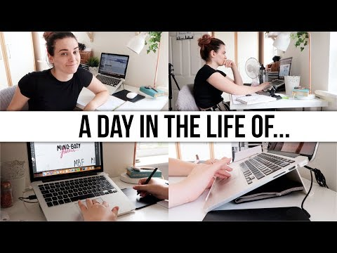 A DAY IN THE LIFE OF A... Graphic Designer & YouTuber | Part One