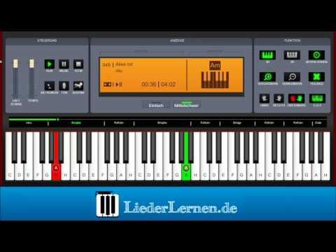 Silly - Alles rot - Klavier lernen - Musiknoten - Akkorde