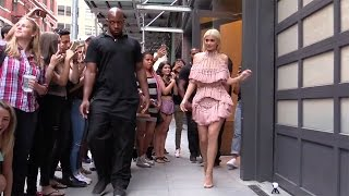 Kylie Jenner leaves her apartment in New York wearing a sparkling dress