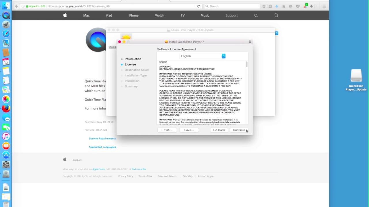 Download & Installing QuickTime 7