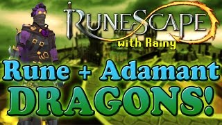 Runescape: Rune and Adamant Dragons with Rainy!