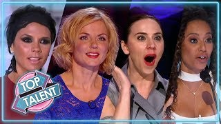 SPICY AUDITIONS! Spice Girls Judges On Got Talent, X Factor & Idol | Top Talents