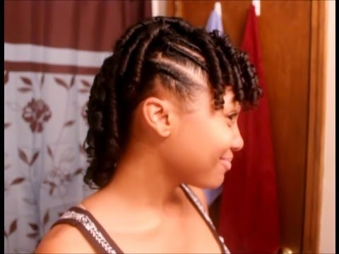 Flexi Rod Mohawk Hair Tutorial Flat Twists Youtube