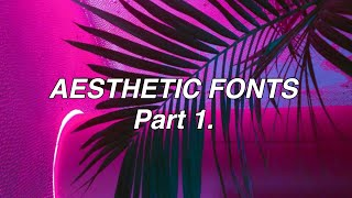Aesthetic Fonts For Your Pictures Part 1 grunge/edgy YouTube