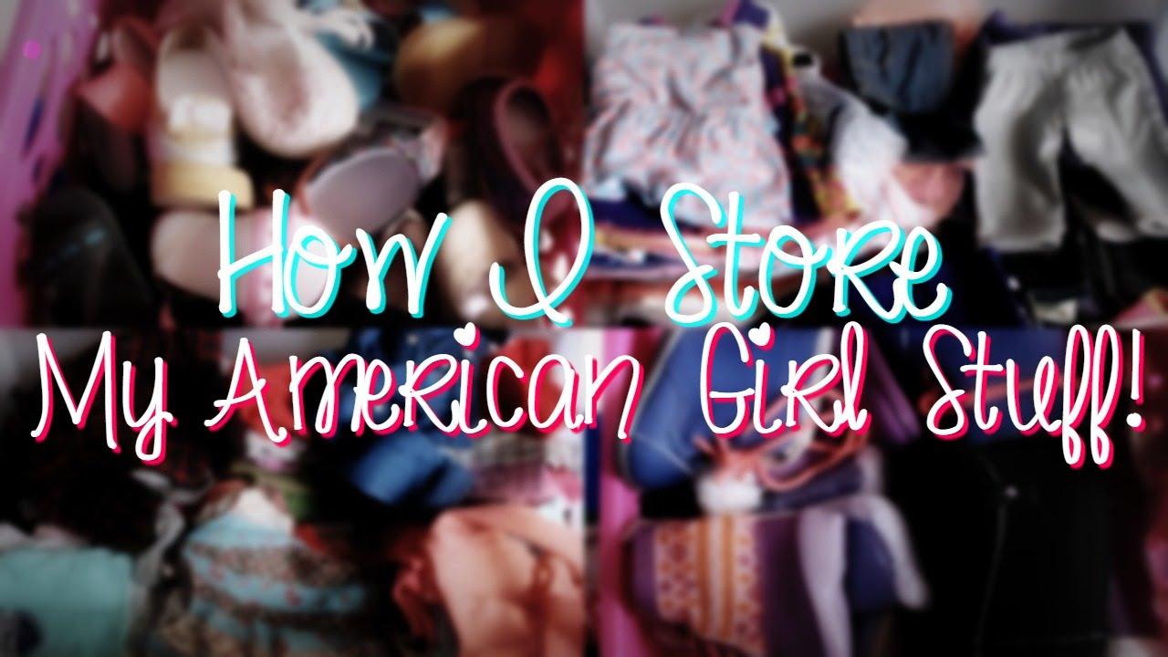 How I Store My American Girl Doll Stuff! | American Girl Doll Storage U0026  Organization