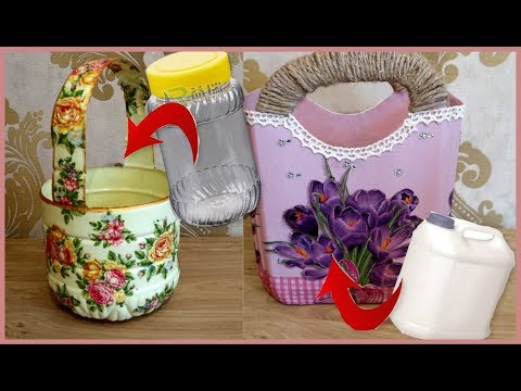 DIY    2 ways to reuse plastic  BEST OUT OF WASTE