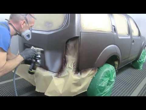 Профессиональная покраска Раптором Nissan Pathfinder, все этапы