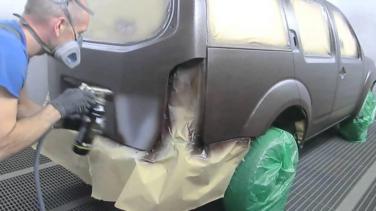 Покраска Раптором Nissan Pathfinder, все этапы