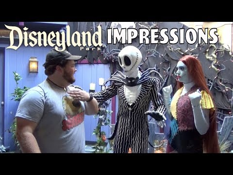Jack and Sally Thought I Ate Disney Characters! - Disneyland Impressions