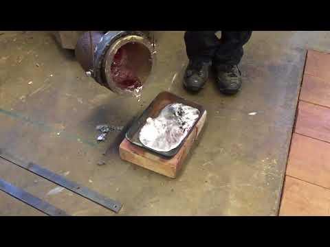 NADHack pouring aluminium in slo-mo