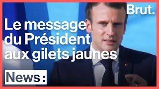 Le message d'Emmanuel Macron pour les gilets jaunes