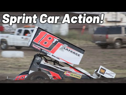 Saturday Sprint Car Action at the Southern Oregon Speedway!