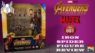 Medicom Toy MAFEX No  081 IRON SPIDER Avengers Infinity War Spider Man Figure Review