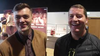 TYRONE McKENNA & DANNY VAUGHAN ON TOMMY COYLE PULLING OUT BEEF WITH WOODHOUSE & GARRIDO