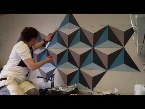 Painting Geometric Wall - Remember Full HD !
