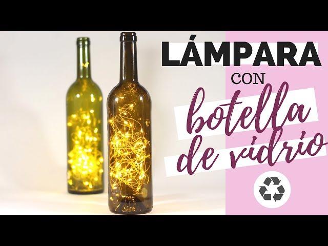 Original LÁMPARA con BOTELLA DE VIDRIO perforada | Reciclaje