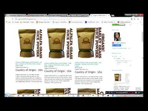 Organic Alfalfa Grass Juice Powder   1lb Bag   Kosher, NON GMO, RAW, Vegan